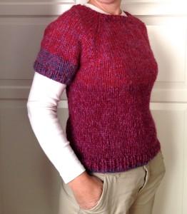 Chunky knit t-shirt.