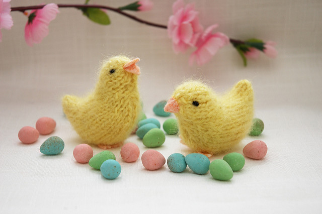 Lovely little spring chickens by Barbara Prime.