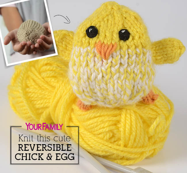 Lovely reversible chicken that goes back into the egg at your will!